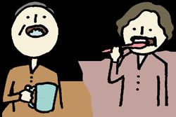 歯磨きの挿絵