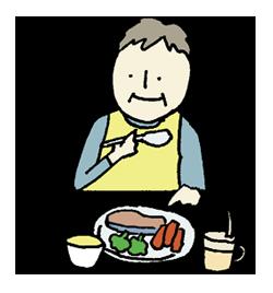 食事の挿絵